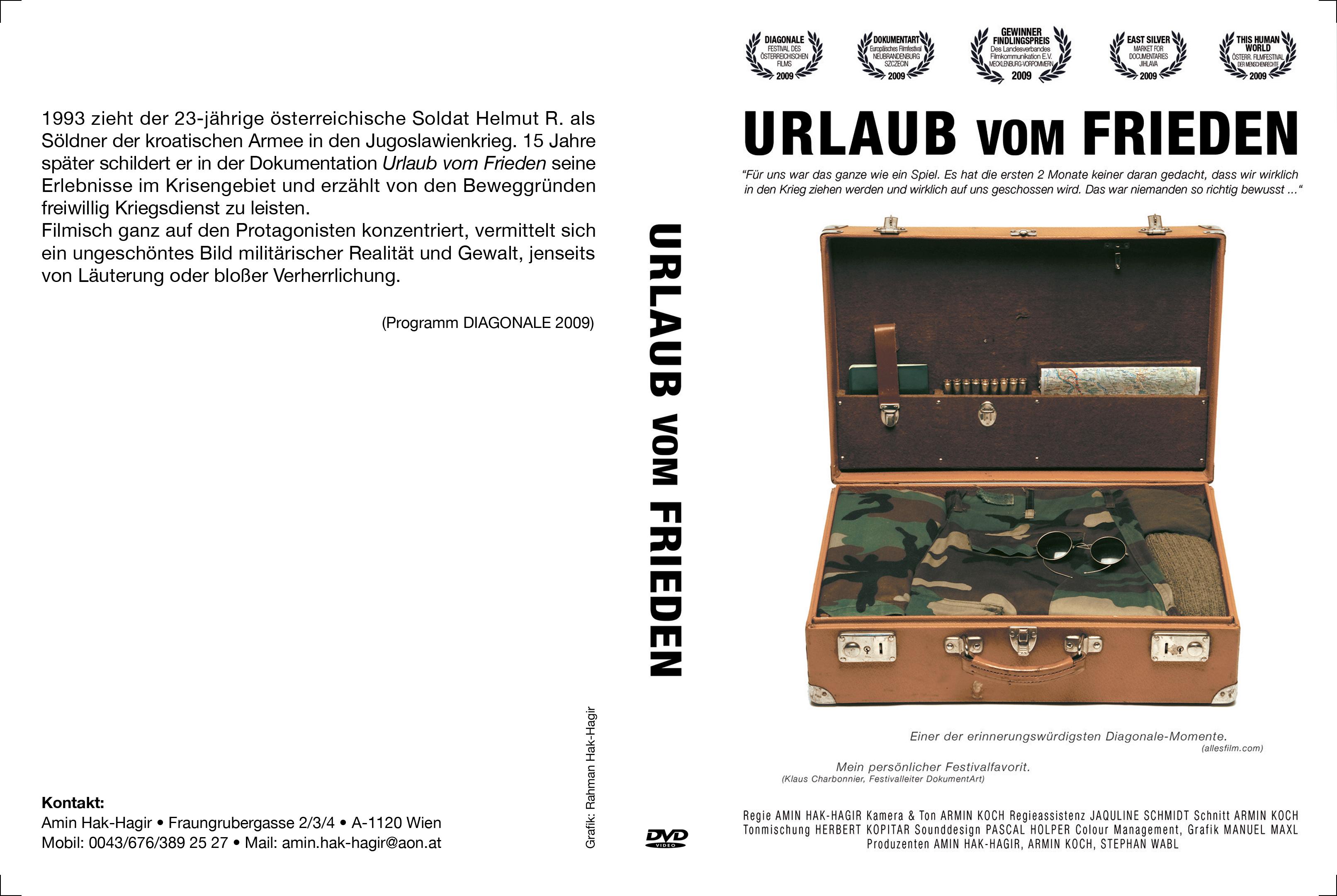 Urlaub vom Frieden DVD Cover BLOCK